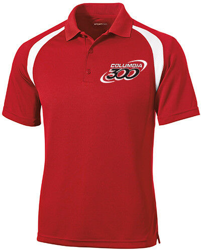 Columbia 300 Men's Freeze Performance Polo Bowling Shirt Dri-Fit Red