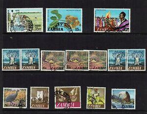 ZAMBIA-STAMPS-ANIMALS-BIRDS