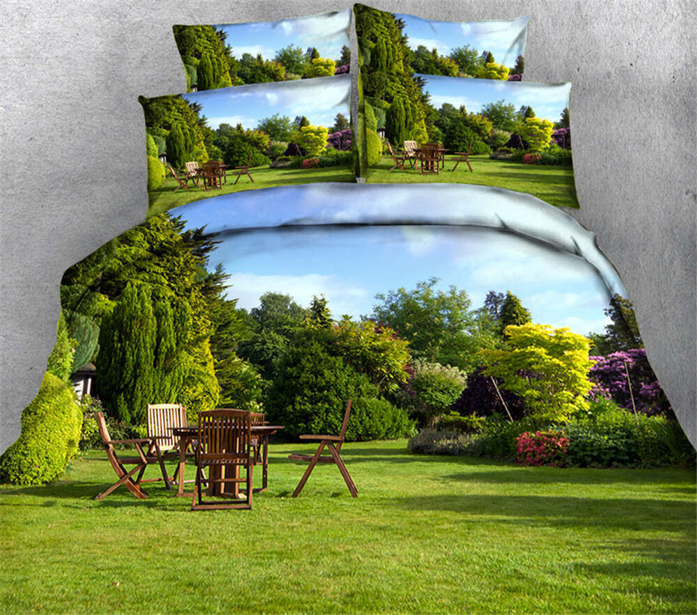 Fresh Countryside 3D Printing Duvet Quilt Doona Covers Pillow Case Bedding Sets