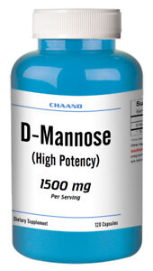 D-Mannose-High-Potency-120-Capsules-500mg-1500mg-Serving-Fast-USA-Shipping