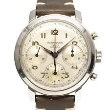 1960s Vintage Wakmann Venus 178 Triple Register Chronograph