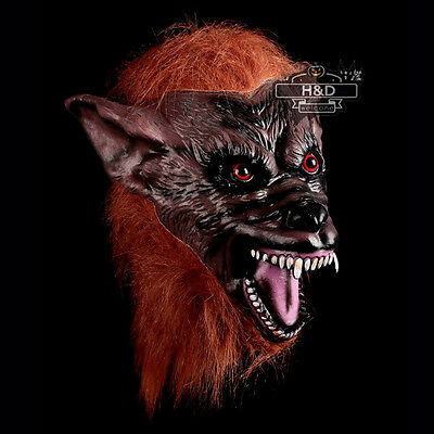 Scary Wolf King Mask + Gloves Cosplay Halloween Fancy Dress Costume Latex Props