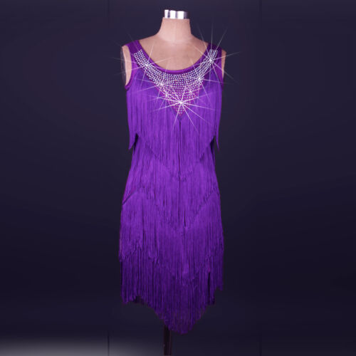 Latin Dance Dress salsa tango Cha cha Ballroom Competition Group Dance Dress N91