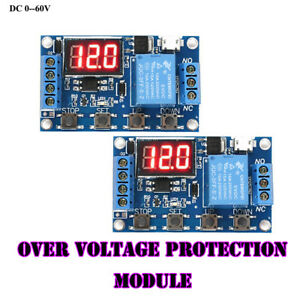 Digital Automation Delay Control Switch Time Relay Module Over Voltage Protect