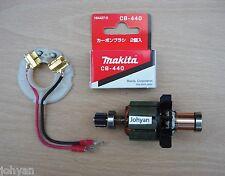 MAKITA 18V armatura Spazzola Supporto & Pennelli adatta BHP451 BDF451 cordless motore