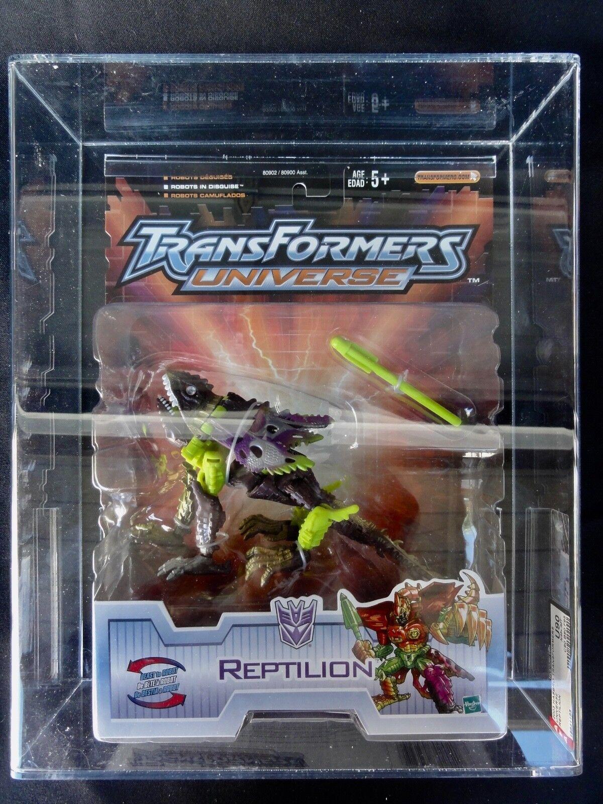 2003 Transformers AFA Universe Reptilion Tape Sealed MISB MIB BOX