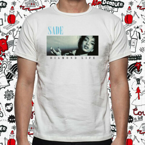 SADE Diamond Life Soul Pop Band Music Men/'s White T-Shirt Size S to 3XL