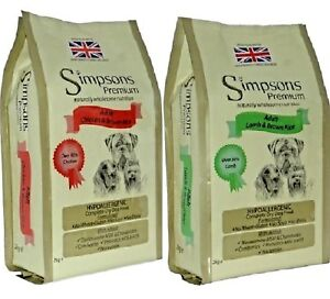 SIMPSONS-ADULT-DOG-2kg-12kg-Chicken-Lamb-Brown-Rice-Dry-Dog-Food-bp-Feed