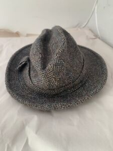 a8231cd2f Details about Vtg PENDLETON 100% Virgin Wool Men's Tweed Fedora Hat Plaid  SZ 7