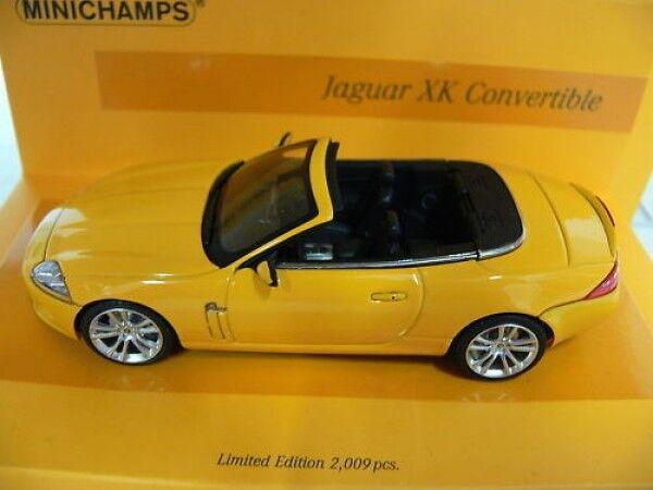 1 43 Minichamps Jaguar XK Converdeible 2005 linea amarillo