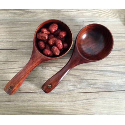 Japanese Style Wooden Spoon Tableware Large Capacity Grain Ladle Set of 2