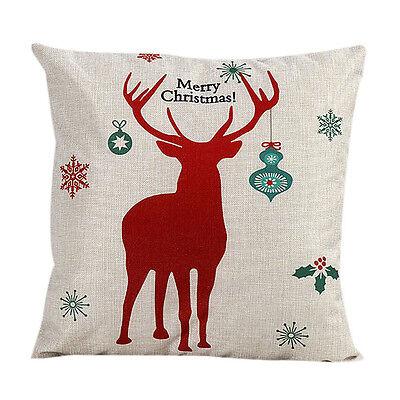 Christmas Cushions Case Pillow Cover Christmas Home Decor Sofa Bed Pillow Cover