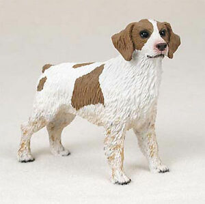 Brittany Figurine Hand Painted Collectible Statue Brown /& White