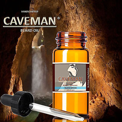 Aftershave & Pre-shave Well-Educated Hand Crafted Island Breeze Beard Oil Conditioner .33oz By Caveman® Beard Care Shaving & Hair Removal
