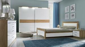Details zu Design Luxus Schlafzimmer Set Stilmöbel Edelholz Komplett Weiß  Eiche SL33 NEU!