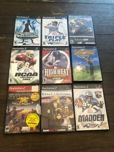 Sony-PS2-Playstation-2-Video-Game-Lot-Of-9-Games-Lot-B