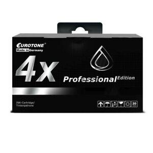 4x Eurotone Pro Ink Black For Epson Stylus Photo R-200 R-340 RX-600 RX-640