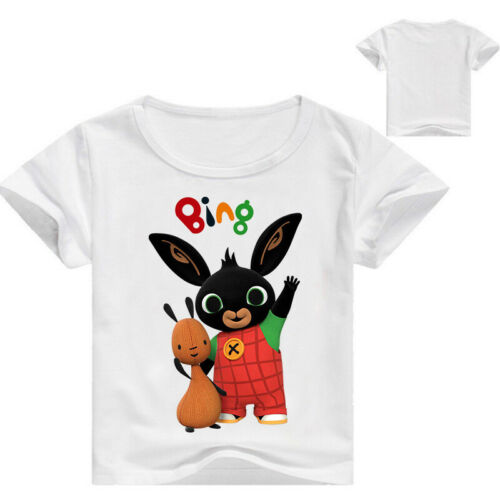 Kids BING BUNNY Short-Sleeved T-Shirt in 6 Colour Choices NWT-2-12 Years Tee Top