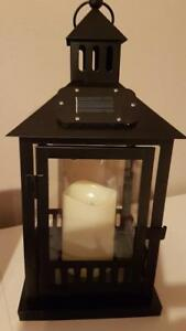 Solar-Metal-Lantern-with-Fence-Black