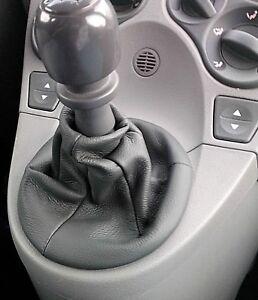 Fiat-Panda-169-Cuffia-cambio-in-vera-pelle-Antracite-dal-2003-al-2012