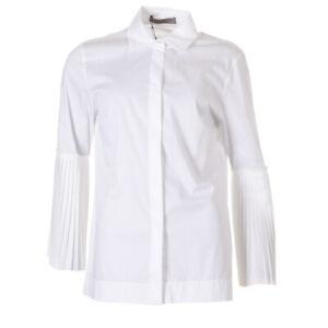 D-EXTERIOR-Shirt-White-Bell-Sleeve-Cotton-Blend-Size-Large-RRP-189-BG-221