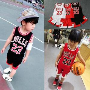 HOT Kids Baby Boys Girls  23 Michael Jordan Bulls Basketball ... 4807217cb