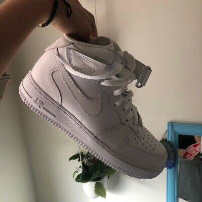 White Air Force 1 High Top Shoes Men's Size 8 Women's Size 9 ...