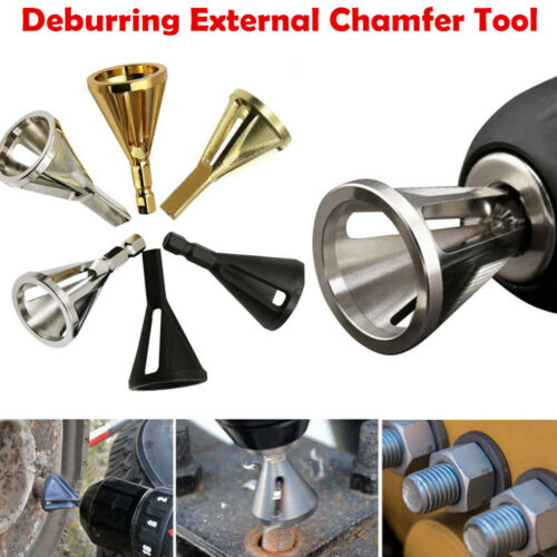 Hex//Triangle Shank Drill Bit Deburring External Chamfer Remove Burr Tool TW