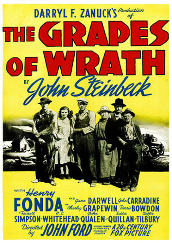 advertising Poster reproduction Grapes of wrath