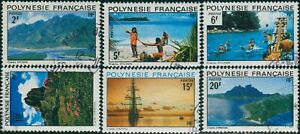 French-Polynesia-1974-Sc-278-283-SG180-185-Polynesian-Landscapes-set-FU