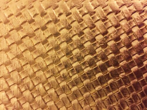 """Sold By The Yard Woven Upholstery Vinyl Fabric Gold Basket Weave 54/"""" 55/"""""""
