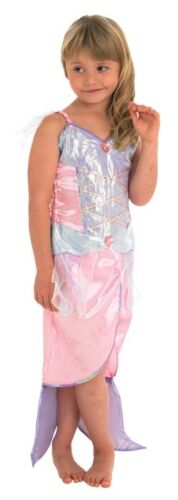 Girls Pink Little Mermaid Princess Book Day Week Fancy Dress Costume Outfit