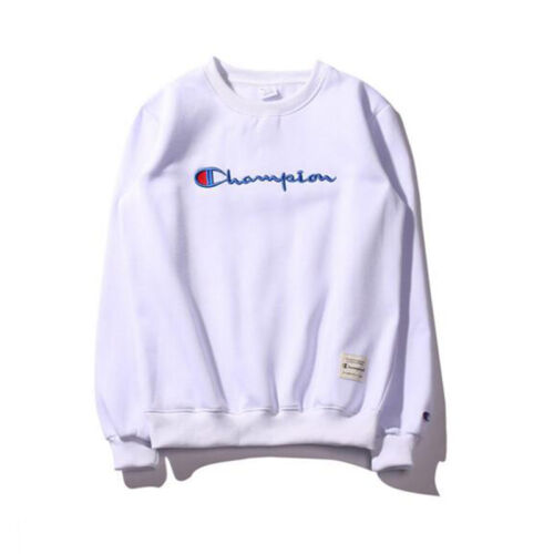 Men Women Embroidery Champion Pullover Sweatshirt Sweater Round Neck Long Sleeve