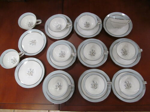 Noritake China Bluebell Pattern Cup and Saucer dishes