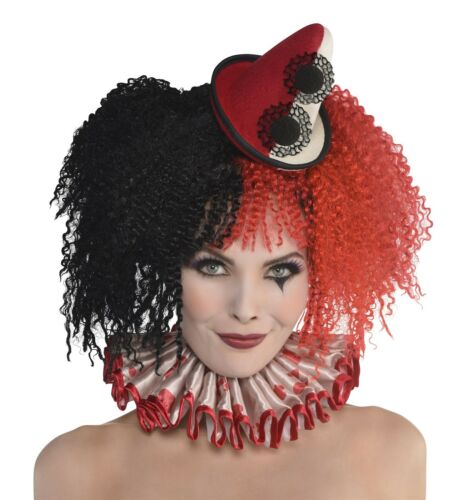 Adults Circus Clown Headband Horror Halloween Killer Freak Show Mini Hat Jester
