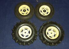 Tamiya Tire and Rim Set Hornet Frog SRB CAT You-G TR8412  Vintage RC Part (C8B5)