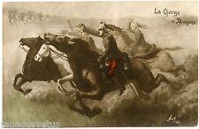 GUERRE. WAR. LA CHARGE DE DRAGONS.  MUG. CHEVAL. HORSE. SOLDIERS.