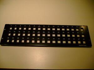 "Patch Panels Confident Keystone Jack Snap-in Blank Patch Panel 48 Port 3u Cat5e/cat6 19"" New"