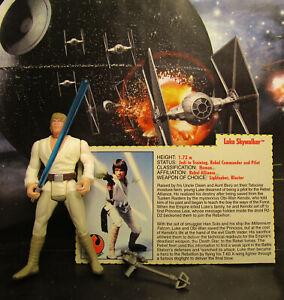 1995-Kenner-Star-Wars-Pouvoir-de-la-FORCE-2-Luke-Skywalker-long-saber-Loose-amp-Complete-Figure