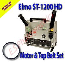 Elmo st-1200hd SUPER 8mm CINE PROIETTORE le cinghie di trasmissione set di 2