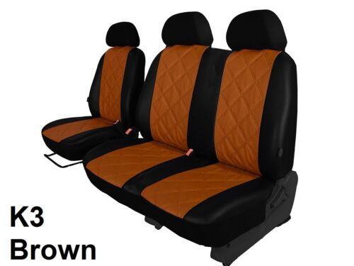 PEUGEOT EXPERT VAN 2017 ONWARDS ECO LEATHER TAILORED SEAT COVERS MADE TO MEASURE