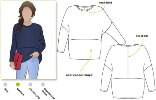 mltk 049S-M Style Arc Femmes sewing pattern Sunny Knit Top