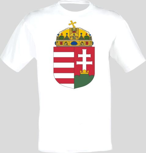Coat of Arms Of The Hungary Hungarian Arms Flag T-Shirt All Sizes