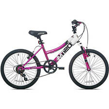 "20"" Girls' MT20 Mountain Bike Sturdy Lightweight Bicycling 7 Speed Gears Pink"