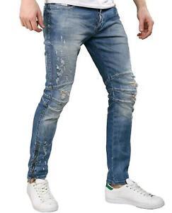 Redbridge-Jeans-Uomo-Pantaloni-Destroyed-Look-Vintage-Skinny-Slim-Fit-Design-Styler
