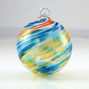 Glass Eye Studio SEASHORE Hand Blown Art Glass Round Christmas Ornament