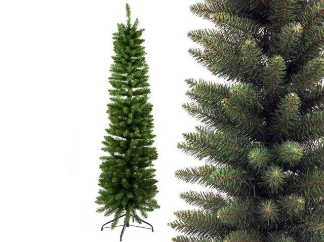 Albero di Natale Artificiale Salva Spazio Slim Base in Metallo varie misure
