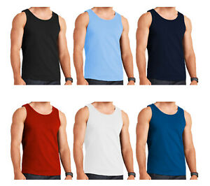 6 PACK MENS VESTS 100/% Cotton TOP SUMMER TRAINING GYM  Sleeveless t Shirt