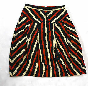 Pocket Marc line Skirt Black Graphic Collared Small Tan A Multi 2 Stripe Jacobs wrxaq4r1I