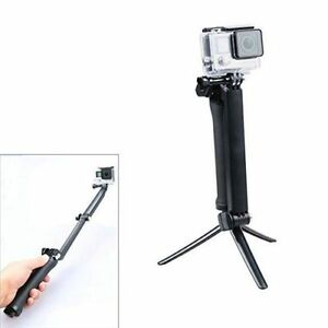 3 Way Adjustable Bracket Hand Grip Pole Extension Arm Tripod Set Mount for GoPro